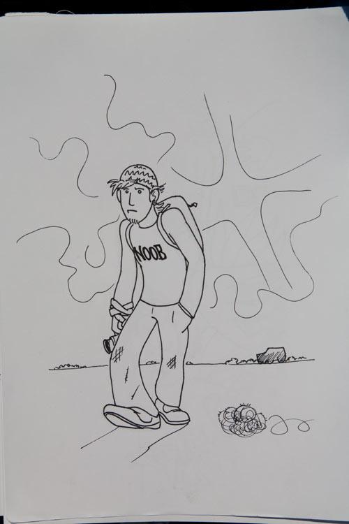 Zeichnung von manniac und Charlie